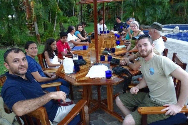 Meeting at Hotel Tambor Tropical on the evening before the count